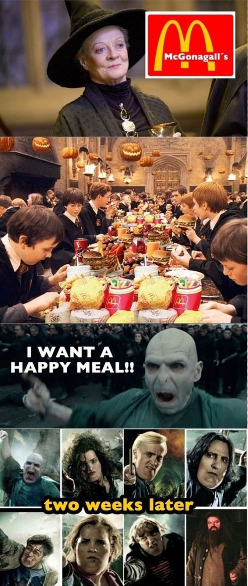 Harry Potter<<< OH MY GOD HAGRID IS STILL THE SAME I DONT KNOW HOW I FEEL ABOUT THAT.<<< Did e not eat anything?