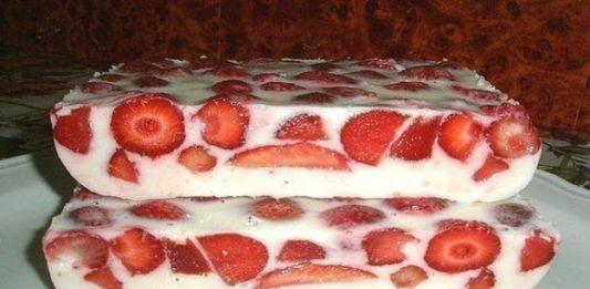 Jahodovo-smetanový dort bez pečení s tou nejrychlejší přípravou!