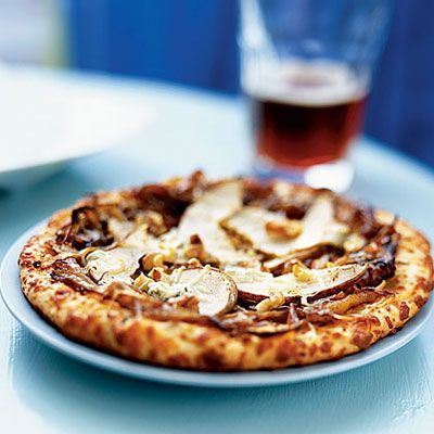 Caramelized Onion-Pear Pizza: Pizza often gets labeled as junk food, but the right slice can be filled with antioxidants, fiber, and calcium. Our 15 light pizzas include classic pies as well as barbecue chicken, vegetarian, and white pizza recipes.