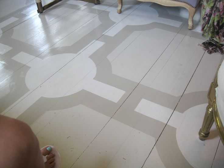 143 best decorative painted wood floors images on for Painting wood floors without sanding