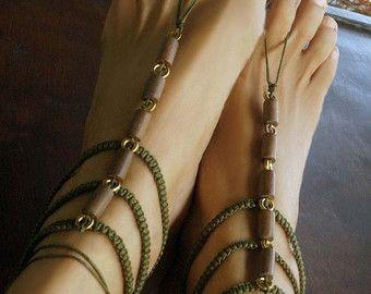 Sandalias de Gladiador sandalias Descalzas turquesa por MAWUN