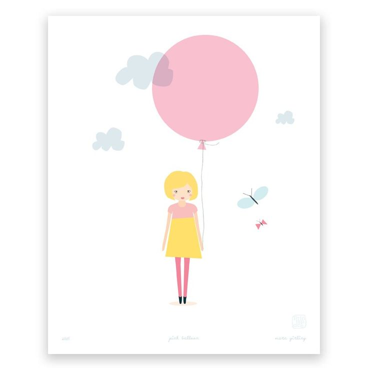 Pink Balloon - Art Print