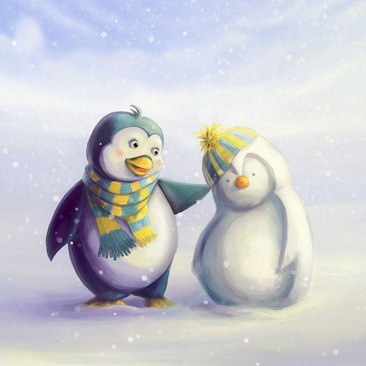 пингвины забавные картинки рисунки фильмы