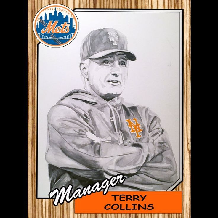 wake up with terry! of course mr. manager will be in the throwback world series set coming to the queens baseball convention! head to qbc16.com to get your tickets now! see you there! @mets #mets #baseballart #davemajo #mlb #qbc16