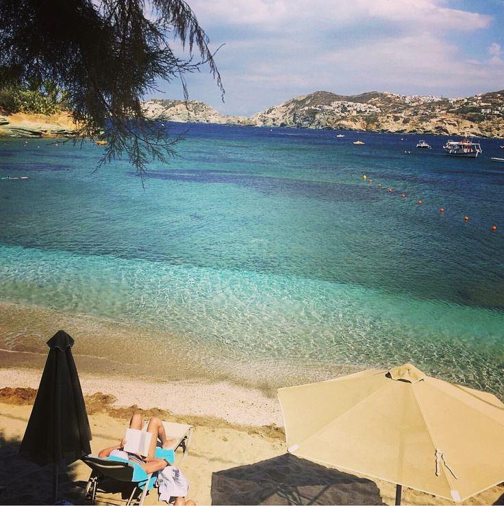View of the public beach of Aghia Pelagia, Crete, in front of our resort. #beach #crete #hotel #luxury #resort #aghia #agia #pelagia #sea