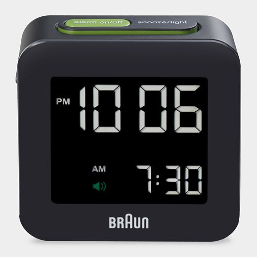 Digital Square Alarm Clock by Braun:   Great classic design, however, some users recommend an improvement in functionality. #Clock