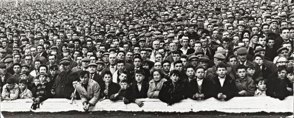 Celtic end Hampden football ground, cup final, 1963