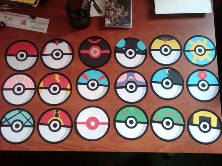 door tags for a pokemon floor theme