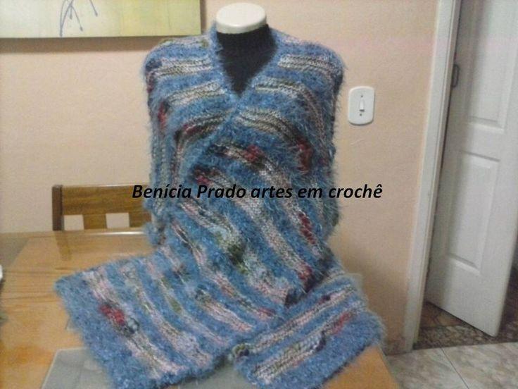 manto quadrado perfeito em trico
