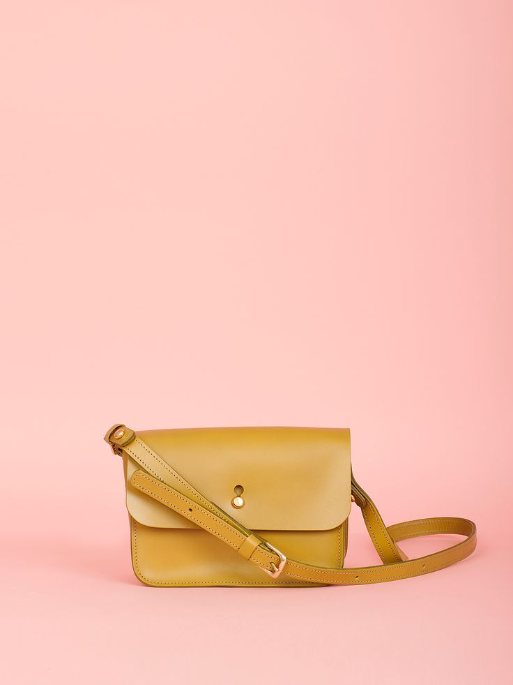 Robin - Olive Leather Bag, Mimi Berry SS16