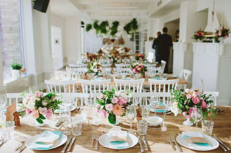 Anthea + Brad - Watsons Bay, Sydney - The Style Co. Clever set up around the stands