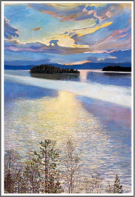 Akseli Gallen-Kallela (1865 - 1931), Vue du Lac - 1901