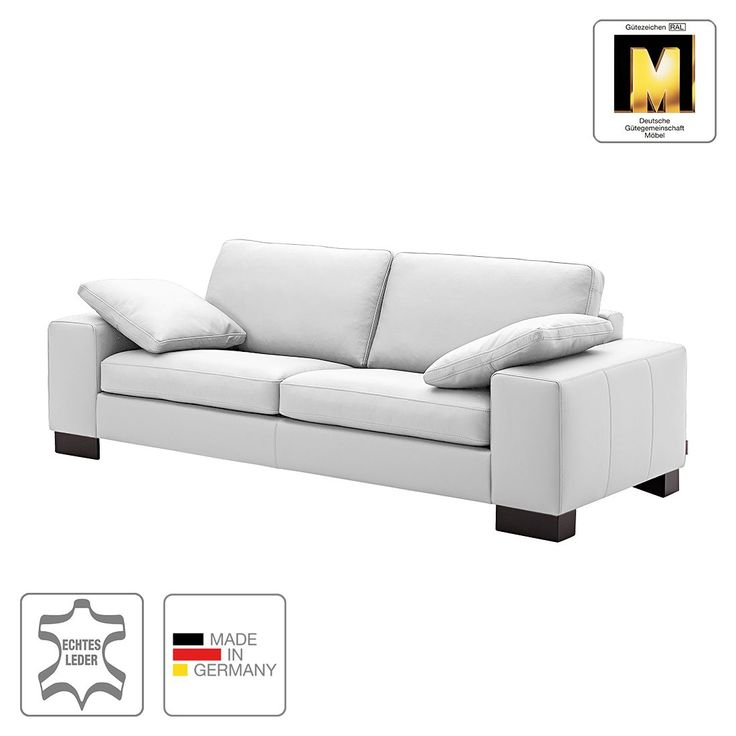 Sofa Matador (3-Sitzer) - Echtleder - Weiß - Ohne Kissen, Machalke Polsterwerkstätten Jetzt bestellen unter: https://moebel.ladendirekt.de/wohnzimmer/sofas/2-und-3-sitzer-sofas/?uid=20ba393b-ef13-5918-8aa4-3ee024ece5df&utm_source=pinterest&utm_medium=pin&utm_campaign=boards #möbel #sofas #3sitzersofas #polsterwerkstätten #wohnzimmer #machalke #couches
