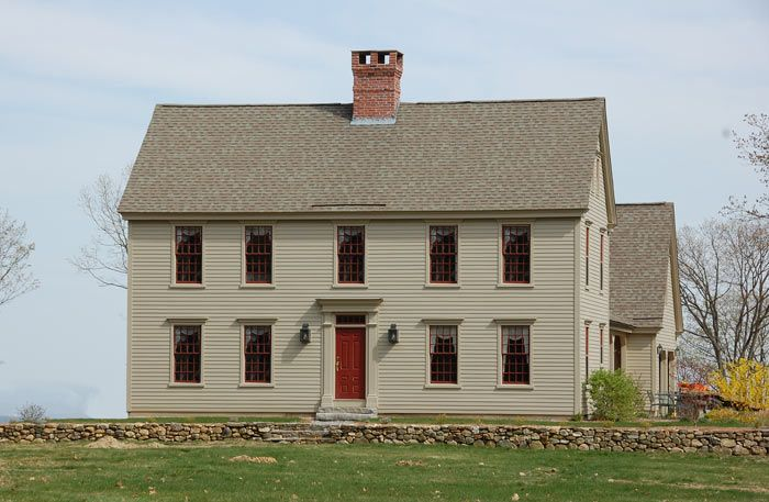 54 best center chimney capes images on pinterest saltbox for Colonial saltbox house plans