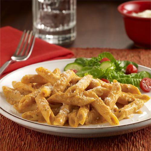 Pasta Cremosa con Calabaza: Receta de pasta cremosa con sabor otoñal que mezcla…