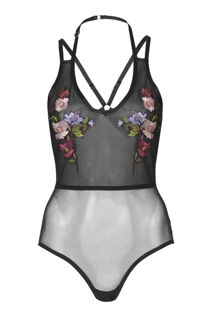 Embroidered Floral Body - Topshop