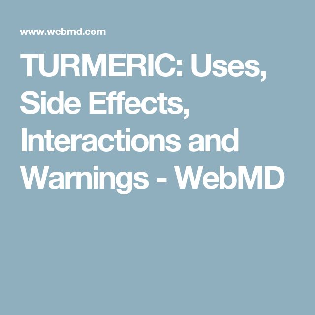TURMERIC: Uses, Side Effects, Interactions and Warnings - WebMD
