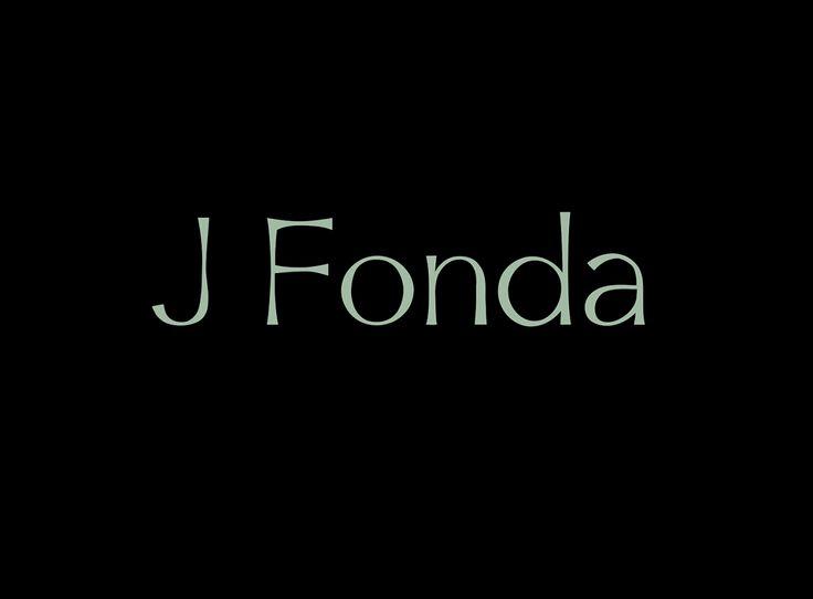 J Fonda Type face — May 2015
