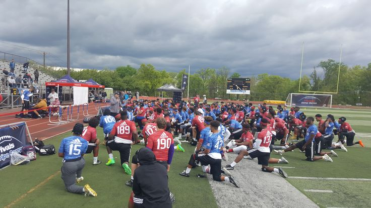 At Rivals Camp with Coach White.  #Parisi Speed #School at #HealthQuest in #Flemington #NJ