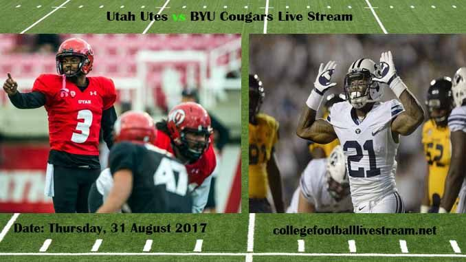 Utah Utes vs BYU Cougars Live Stream Teams: Utes vs Cougars Time: 10:15 PM ET Week-2 Date: Saturday on 9 September 2017 Location: LaVell Edwards Stadium, Provo, UT TV: ESPN NETWORK Utah Utes vs BYU Cougars Live Stream Watch College Football Live Streaming Online The Utah Utes is also a reputed...