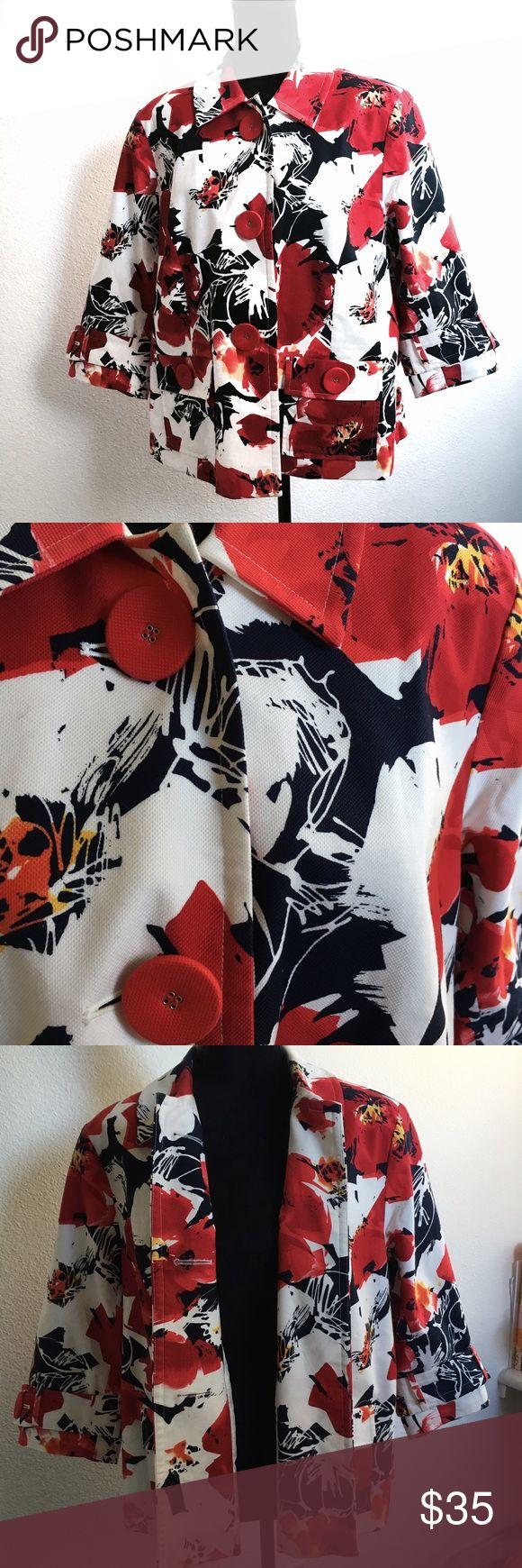 Coldwater Creek Women's Button Jacket Plus Size Coldwater Creek | Floral | Size W18 | Button Down | Coldwater Creek Jackets & Coats Blazers