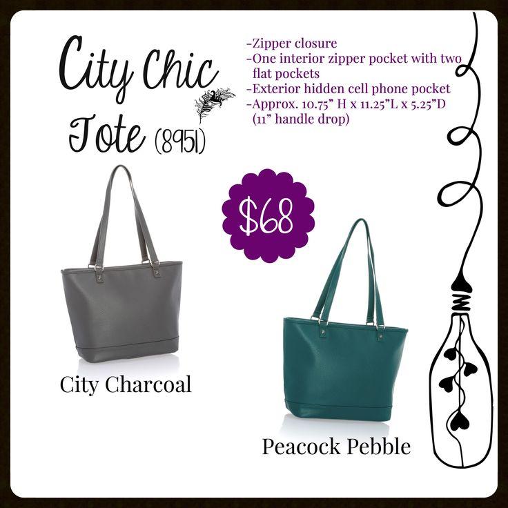 City Chic Tote, Fall 2017, Thirty-One www.mythirtyone.com/carrieblackman