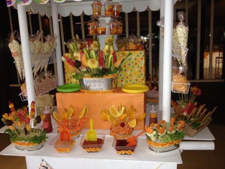 1a comunion mesa de dulces frituras fruta - Buscar con Google