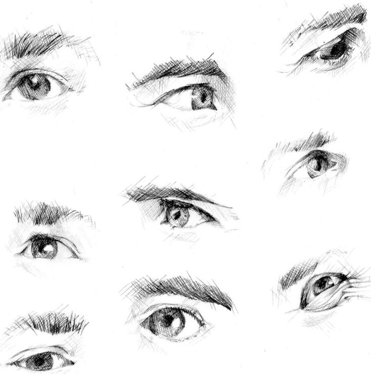 how to draw eyes looking at you