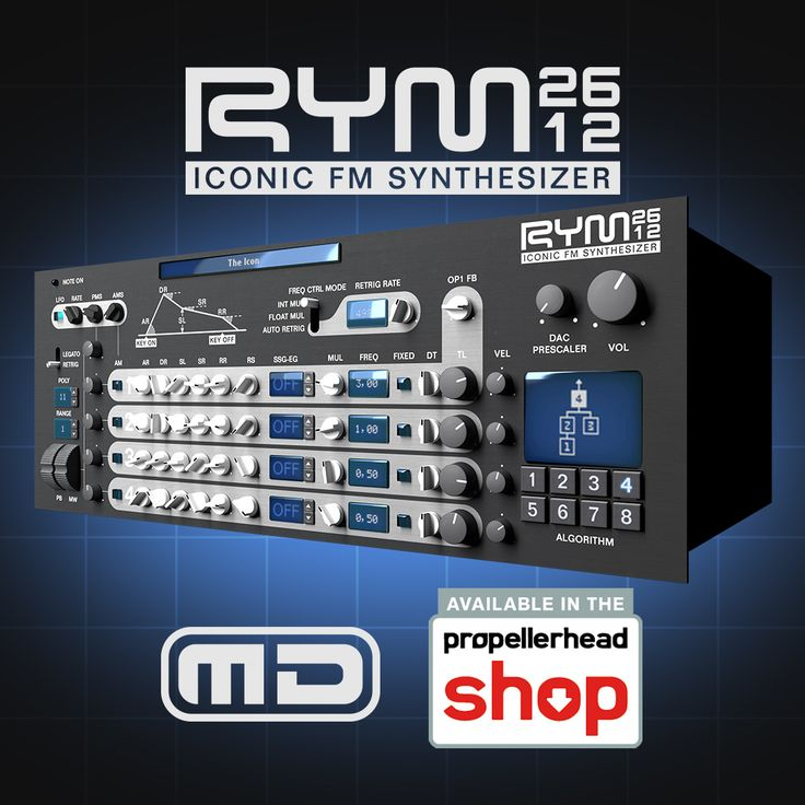 https://shop.propellerheads.se/product/rym2612-iconic-fm-synthesizer/ RYM2612 Iconic FM Synthesizer by Mathieu Demange is an emulation of the Yamaha YM2612 soundchip, best known for being the vibrant voice of the Sega Genesis/Megadrive videogame console.