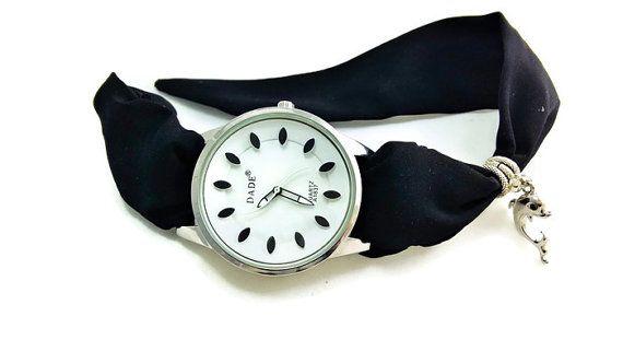 Black Wrist Watch  Womens Dress Watch Cool by HarmonyHourWatches