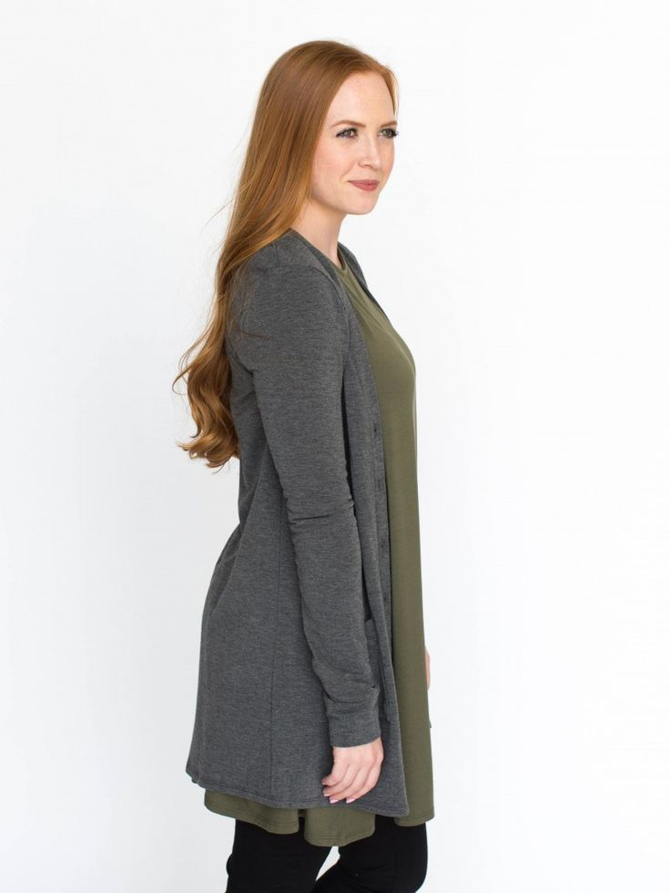 Agnes & Dora - Essential Cardigan Dark Gray Solid Charcoal Cardigan Outfit www.shopmyprettythings.com #ootd #agnesanddora #agnesanddorabyayano #outfit #whoops #stripes #leggings #legginglife #leggingsarepants #legginglove #legginglife #leggingsfordays #leggingsforlife #pixiepants #floral #pink #shopping #mystyle #monday #comfy #thatsdarling #onlineshopping #empowersocial #charcoal #Cardigan
