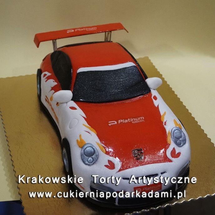 133. Przestrzenny tort Porsche panamera. 2D Porsche Panamera car cake.