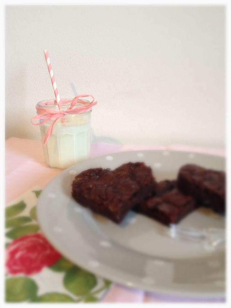 Brownies al cioccolato e caramello <3