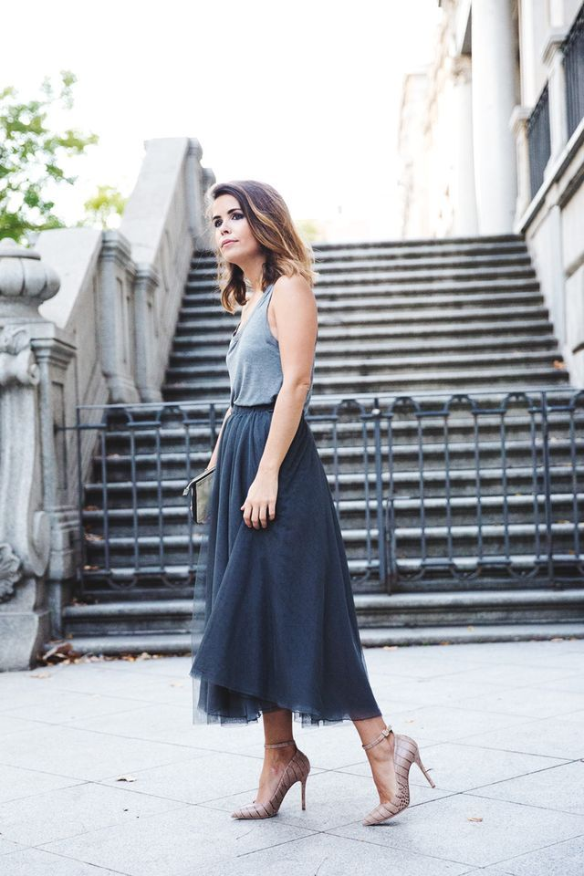 Modern version of a tulle skirt, how to make it wearable now