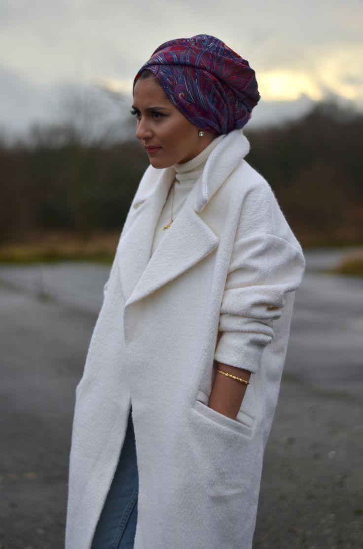 Dina tokio liberty of london scarf turned into a beautiful hijaab turban!