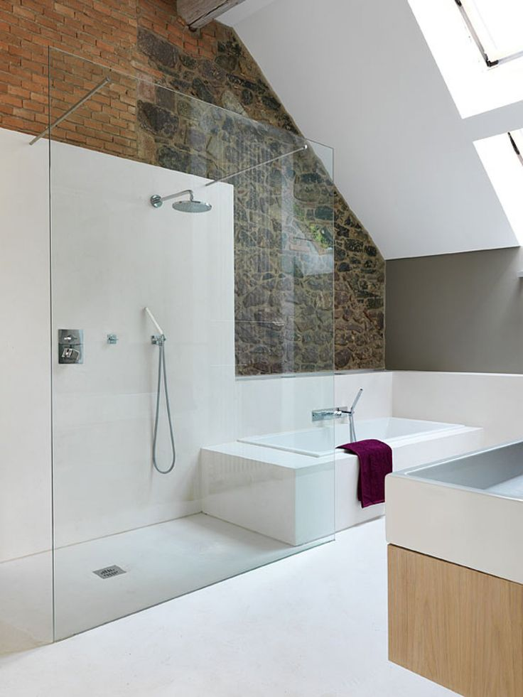 die besten 17 ideen zu bad mit dachschräge auf pinterest, Badezimmer