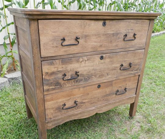 Before After Stripping Paint To Reveal A Walnut Dresser Removing Paint Wood Furniture And