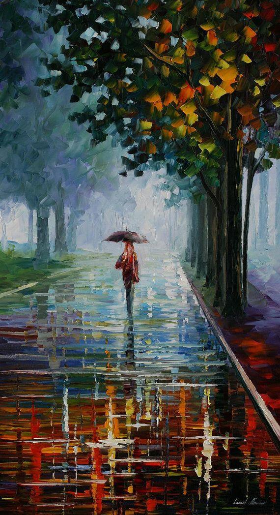 Morning Full of Life — PALETTE KNIFE Oil Painting on Canvas by AfremovArtStudio, $239.00 #art #painting #gift #design #fineart #Impressionism #homedecor #wallhanging #LeonidAfremov #AfremovArtStudio #pictures