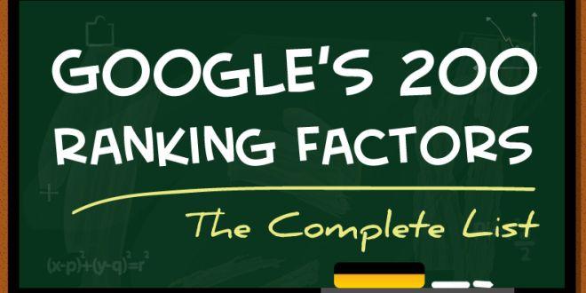 200 Google Ranking Factors List is a myth ?