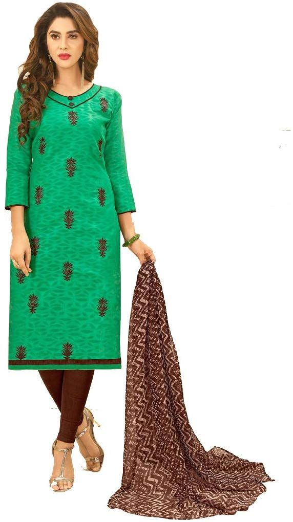 447dd1b974 Shree Ganesh Retail Womens Cotton Jacquard Churidar Salwar Kameez  Unstitched Dress Material (50002 TURQUOISE): Amazon.in: Clothing &  Accessories