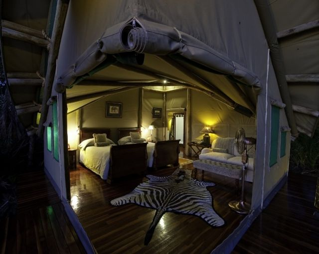 With its shady trees and views overlooking the tranquil lagoon, Abu Camp is a haven of peace and seclusion.  http://www.africanwelcome.com/botswana/botswana-private-game-lodges/abu-camp-botswana