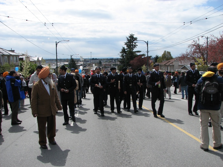 Vancouver Police officers taking part in the Vaisakhi parade.