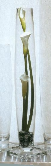 Calla lily centerpiece; ideas for design height