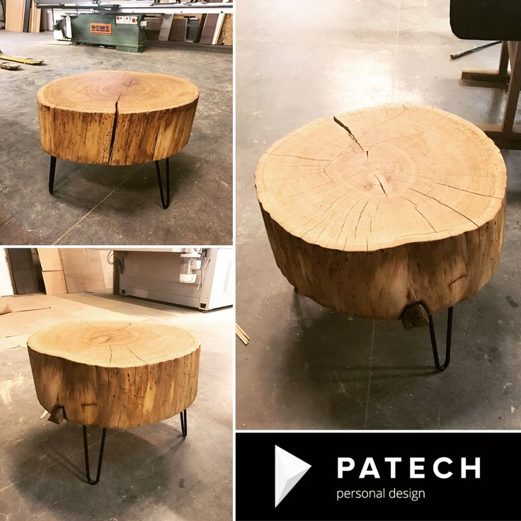 Taki mały stoliczek a tyle uśmiechu i radości naszej pozytywnie zakręconej klientki 😀🙃😀 #trunk #coffetable #coffee #oak #wood #patech #meble #stolik #architekci #lovewood @nataliabihun