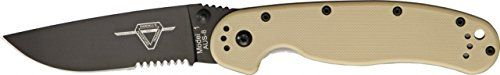 Ontario Knife RAT-1 Knife, 5in. Closed. 8847 DESERT TAN.