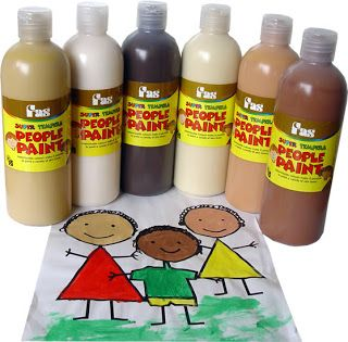 Tempera paints In Skins tone shades: get a set of Tempera People Paint it makes it much easier to paint people