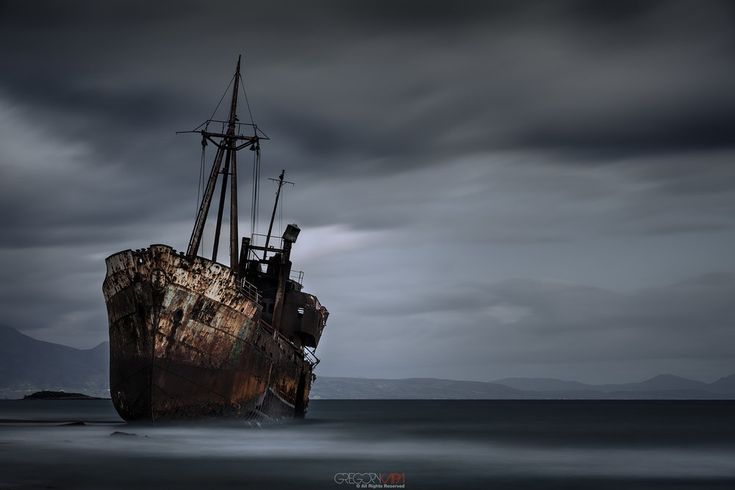 Shipwreck at Gythio Greece
