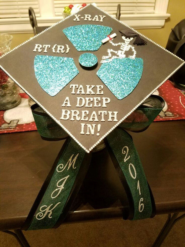 My decorated cap for graduation in radiology