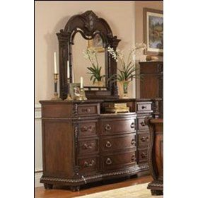 Brown Palace Dresser and Mirror by Homelegance Furniture $931.42