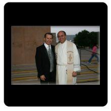 Padre Guadalupe Santos y Noel Diaz fundador de El Sembrador